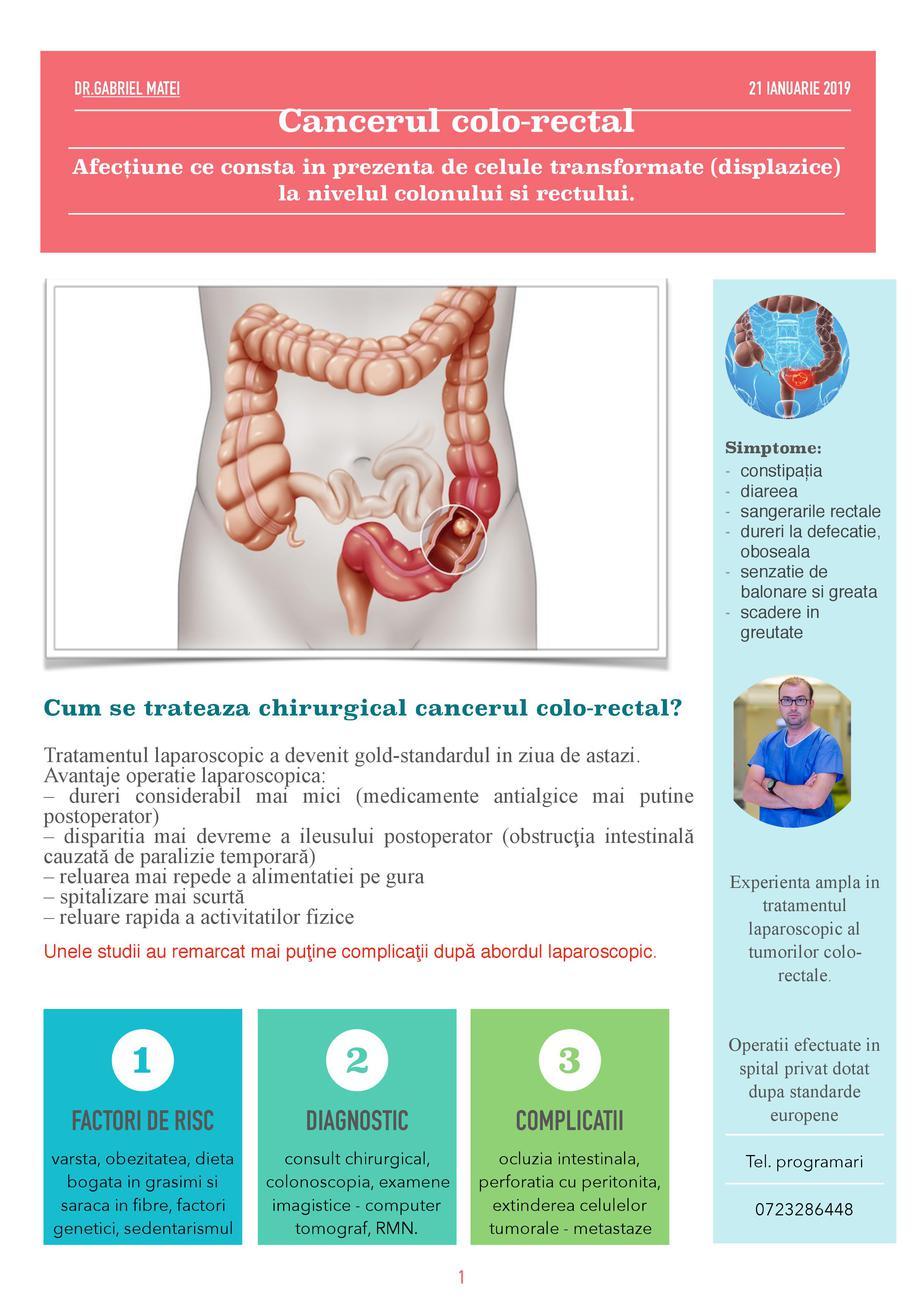 cancerul de colon se vede la rmn